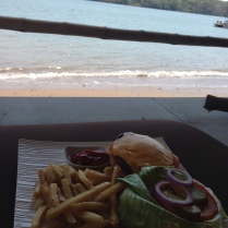 Great burger on the beach!!